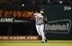 Sep 25, 2013; Arlington, TX, USA; Houston Astros shortstop Jonathan Villar (6) throws to first base during the game against the Texas Rangers at Rangers Ballpark in Arlington. Mandatory Credit: Kevin Jairaj-USA TODAY Sports