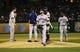 Sep 25, 2013; Arlington, TX, USA; Houston Astros starting pitcher Dallas Keuchel (60) leaves the game during the sixth inning against the Texas Rangers at Rangers Ballpark in Arlington. Mandatory Credit: Kevin Jairaj-USA TODAY Sports