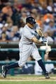 Sep 18, 2013; Detroit, MI, USA; Seattle Mariners catcher Henry Blanco (33) at bat against the Detroit Tigers at Comerica Park. Mandatory Credit: Rick Osentoski-USA TODAY Sports