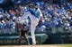 Sep 22, 2013; Kansas City, MO, USA; Kansas City Royals pitcher James Shields (33) delivers a pitch against the Texas Rangers during the first inning at Kauffman Stadium. Mandatory Credit: Peter G. Aiken-USA TODAY Sports