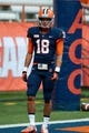 Sep 21, 2013; Syracuse, NY, USA; Syracuse Orange wide receiver Christopher Clark (18) warms up prior to a game against the Tulane Green Wave at the Carrier Dome. Mandatory Credit: Mark Konezny-USA TODAY Sports