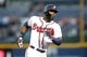 Sep 26, 2013; Atlanta, GA, USA; Atlanta Braves right fielder Jason Heyward (22) rounds the bases after hitting a home run against the Philadelphia Phillies in the first inning at Turner Field. Mandatory Credit: Brett Davis-USA TODAY Sports