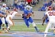 Sep 26, 2013; Tulsa, OK, USA; Tulsa Golden Hurricane quarterback Cody Green (7) runs for a 1st down during the first half against the Iowa State Cyclones at Skelly Field at H.A. Chapman Stadium. Mandatory Credit: Alonzo Adams-USA TODAY Sports
