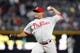 Sep 26, 2013; Atlanta, GA, USA; Philadelphia Phillies starting pitcher Mauricio Robles (67) throws a pitch against the Atlanta Braves in the third inning at Turner Field. Mandatory Credit: Brett Davis-USA TODAY Sports