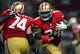 Sep 26, 2013; St. Louis, MO, USA; San Francisco 49ers running back Anthony Dixon (24) carries the ball against the St. Louis Rams during the second half at the Edward Jones Dome. San Francisco defeated St. Louis 35-11. Mandatory Credit: Jeff Curry-USA TODAY Sports