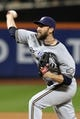 Sep 27, 2013; New York, NY, USA; Milwaukee Brewers relief pitcher Jim Henderson (29) pitches against the New York Mets during the ninth inning at Citi Field. The Brewers won 4-2. Mandatory Credit: Brad Penner-USA TODAY Sports