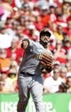 Sep 28, 2013; Cincinnati, OH, USA; Pittsburgh Pirates third baseman Pedro Alvarez (24) fields a ball during the second inning against the Cincinnati Reds at Great American Ball Park. Mandatory Credit: Frank Victores-USA TODAY Sports