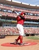 Sep 28, 2013; Cincinnati, OH, USA; Cincinnati Reds center fielder Shin-Soo Choo (17) in the on deck circle during the second inning against the Pittsburgh Pirates at Great American Ball Park. Mandatory Credit: Frank Victores-USA TODAY Sports