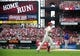 Sep 28, 2013; St. Louis, MO, USA; St. Louis Cardinals left fielder Matt Holliday (7) runs the bases after hitting a two run home run off of Chicago Cubs starting pitcher Edwin Jackson (36) during the first inning at Busch Stadium. Mandatory Credit: Jeff Curry-USA TODAY Sports