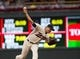 Sep 28, 2013; Minneapolis, MN, USA; Minnesota Twins pitcher Anthony Swarzak (51) delivers a pitch in the seventh inning against the Cleveland Indians at Target Field. Mandatory Credit: Brad Rempel-USA TODAY SportsThe Cleveland Indians won 5-1.