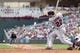 Sep 28, 2013; Minneapolis, MN, USA; Cleveland Indians second baseman Jason Kipnis (22) hits a single in the fifth inning against the Minnesota Twins at Target Field. Mandatory Credit: Brad Rempel-USA TODAY SportsThe Cleveland Indians won 5-1.