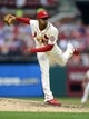 Sep 28, 2013; St. Louis, MO, USA; St. Louis Cardinals relief pitcher Sam Freeman (71) throws to a Chicago Cubs batter during the sixth inning at Busch Stadium. St. Louis defeated Chicago 6-2. Mandatory Credit: Jeff Curry-USA TODAY Sports