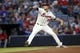 Sep 28, 2013; Atlanta, GA, USA; Atlanta Braves starting pitcher Mike Minor (36) throws a pitch against the Philadelphia Phillies in the first inning at Turner Field. Mandatory Credit: Brett Davis-USA TODAY Sports