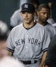 Sep 28, 2013; Houston, TX, USA; New York Yankees manager Joe Girardi (28) walks in the dugout before a game against the Houston Astros at Minute Maid Park. Mandatory Credit: Troy Taormina-USA TODAY Sports