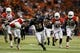Sep 28, 2013; San Antonio, TX, USA; Texas-San Antonio Roadrunners running back Evans Okotcha (36) runs the ball against the Houston Cougars  during the second  half at Alamodome. Houston won 59 - 28. Mandatory Credit: Soobum Im-USA TODAY Sports