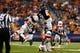 Sep 28, 2013; San Antonio, TX, USA; Houston Cougars fullback Xavier Brown (23) intercepts a pass intended for Texas-San Antonio Roadrunners wide receiver Bias, Kenny (81) during the second  half at Alamodome. Houston won 59 - 28. Mandatory Credit: Soobum Im-USA TODAY Sports
