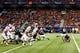 Sep 28, 2013; San Antonio, TX, USA; Houston Cougars defensive tackle B.J. Singleton (93) block a field goal attempt by Texas-San Antonio Roadrunners kicker Sean Ianno (92) during the second  half at Alamodome. Houston won 59 - 28. Mandatory Credit: Soobum Im-USA TODAY Sports