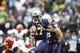 Sep 28, 2013; Seattle, WA, USA; Washington Huskies quarterback Keith Price (17) scrambles out of the pocket against the Arizona Wildcats during the first quarter at Husky Stadium. Mandatory Credit: Joe Nicholson-USA TODAY Sports