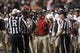 Sep 28, 2013; Houston, TX, USA; Florida Atlantic Owls head coach Carl Pelini yells at the referees during the fourth quarter at Rice Stadium. Mandatory Credit: Andrew Richardson-USA TODAY Sports