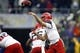 Sep 28, 2013; Seattle, WA, USA; Arizona Wildcats quarterback B.J. Denker (7) passes against the Washington Huskies during the second quarter at Husky Stadium. Mandatory Credit: Joe Nicholson-USA TODAY Sports