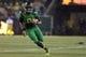 Sep 28, 2013; Eugene, OR, USA; Oregon Ducks quarterback Marcus Mariota (8) runs the ball against the California Golden Bears at Autzen Stadium. Mandatory Credit: Scott Olmos-USA TODAY Sports