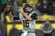 Sep 28, 2013; Eugene, OR, USA; California Golden Bears quarterback Jared Goff (16) throws the ball in the first half against the Oregon Ducks at Autzen Stadium. Mandatory Credit: Scott Olmos-USA TODAY Sports