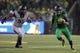 Sep 28, 2013; Eugene, OR, USA; California Golden Bears defensive lineman Viliami Moala (55) defends agaisnt Oregon Ducks quarterback Marcus Mariota (8) at Autzen Stadium. Mandatory Credit: Scott Olmos-USA TODAY Sports