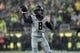 Sep 28, 2013; Eugene, OR, USA; California Golden Bears quarterback Zach Kline (8) throws the ball in the first half against the Oregon Ducks at Autzen Stadium. Mandatory Credit: Scott Olmos-USA TODAY Sports