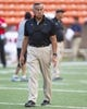 Sep 28, 2013; Honolulu, HI, USA;  Hawaii head coach Norm Chow is seen before the start of the Fresno State vs. Hawaii NCAA college football game. Mandatory Credit: Marco Garcia-USA TODAY Sports
