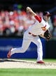 Sep 29, 2013; St. Louis, MO, USA; St. Louis Cardinals relief pitcher Joe Kelly (58) throws to a Chicago Cubs batter during the second inning at Busch Stadium. Mandatory Credit: Jeff Curry-USA TODAY Sports