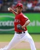 Sep 29, 2013; Arlington, TX, USA; Texas Rangers starting pitcher Yu Darvish (11) throws a pitch in the fourth inning of the game against the Los Angeles Angels at Rangers Ballpark in Arlington. Mandatory Credit: Tim Heitman-USA TODAY Sports