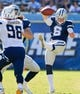 Sep 29, 2013; San Diego, CA, USA; Dallas Cowboys punter Chris Jones (6) gets off a punt during third quarter action against the San Diego Chargers at Qualcomm Stadium.  Mandatory Credit: Robert Hanashiro-USA TODAY Sports