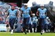 Sep 29, 2013; Nashville, TN, USA; The Tennessee Titans take the field before a game against the New York Jets at LP Field. The Titans beat the Jets 38-13. Mandatory Credit: Don McPeak-USA TODAY Sports