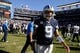 Sep 29, 2013; San Diego, CA, USA; Dallas Cowboys quarterback Tony Romo (9) walks off the field after at the end of a 30-21 loss to the San Diego Chargers at Qualcomm Stadium.  Mandatory Credit: Robert Hanashiro-USA TODAY Sports