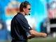 Sep 29, 2013; San Diego, CA, USA;  Dallas Cowboys head coach Jason Garrett  on the sidelines during the second half against the San Diego Chargers at Qualcomm Stadium. Mandatory Credit: Robert Hanashiro-USA TODAY Sports