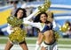 Sep 29, 2013; San Diego, CA, USA; San Diego Chargers cheerleaders perform during the second half against the Dallas Cowboys at Qualcomm Stadium. Mandatory Credit: Christopher Hanewinckel-USA TODAY Sports
