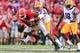 Sep 28, 2013; Athens, GA, USA; Georgia Bulldogs wide receiver Chris Conley (31) is tackled by LSU Tigers cornerback Jalen Collins (32) in the second half at Sanford Stadium. Georgia won 44-41. Mandatory Credit: Daniel Shirey-USA TODAY Sports