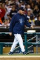 Sep 17, 2013; Detroit, MI, USA; Detroit Tigers pitching coach Jeff Jones (51) during the game against the Seattle Mariners at Comerica Park. Mandatory Credit: Rick Osentoski-USA TODAY Sports