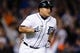 Sep 17, 2013; Detroit, MI, USA; Detroit Tigers third baseman Miguel Cabrera (24) runs to first against the Seattle Mariners at Comerica Park. Mandatory Credit: Rick Osentoski-USA TODAY Sports