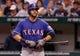 Sep 18, 2013; St. Petersburg, FL, USA; Texas Rangers first baseman Mitch Moreland (18) at bat against the Tampa Bay Rays at Tropicana Field. Mandatory Credit: Kim Klement-USA TODAY Sports