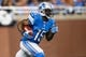 Sep 29, 2013; Detroit, MI, USA; Detroit Lions wide receiver Micheal Spurlock (15) runs the ball against the Chicago Bears at Ford Field. Mandatory Credit: Rick Osentoski-USA TODAY Sports