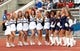 Sep 28, 2013; Buffalo, NY, USA; The Connecticut Huskies cheerleaders pose during the game against the Buffalo Bulls at University of Buffalo Stadium. Buffalo beat Connecticut 41-12. Mandatory Credit: Kevin Hoffman-USA TODAY Sports