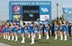 Sep 28, 2013; Buffalo, NY, USA; The Buffalo Bulls cheerleading squad performs during the game against the Connecticut Huskies at University of Buffalo Stadium. Buffalo beat Connecticut 41-12. Mandatory Credit: Kevin Hoffman-USA TODAY Sports