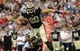 Sep 15, 2013; Tampa, FL, USA; New Orleans Saints tight end Jimmy Graham (80) catches the ball against the Tampa Bay Buccaneers during the first half at Raymond James Stadium. Mandatory Credit: Kim Klement-USA TODAY Sports