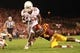 Oct 3, 2013; Ames, IA, USA; Texas Longhorns running back Joe Bergeron (24) is tackled by Iowa State Cyclones corner Sam Richardson (4) during the third quarter at Jack Trice Stadium. Texas beat Iowa State 31-30.   Mandatory Credit: Reese Strickland-USA TODAY Sports
