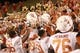 Oct 3, 2013; Ames, IA, USA;  Texas Longhorns celebrate with their fans after their road win against the Iowa State Cyclones at Jack Trice Stadium. Texas beat Iowa State 31-30.   Mandatory Credit: Reese Strickland-USA TODAY Sports