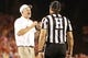 Oct 3, 2013; Ames, IA, USA;  Iowa State Cyclones coach Paul Rhoads reacts to a call by the officials during their game against the Texas Longhorns at Jack Trice Stadium. Texas beat Iowa State 31-30.   Mandatory Credit: Reese Strickland-USA TODAY Sports