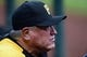 Oct 4, 2013; St. Louis, MO, USA; Pittsburgh Pirates manager Clint Hurdle in game two of the National League divisional series playoff baseball game against the St. Louis Cardinals at Busch Stadium. Mandatory Credit: Jeff Curry-USA TODAY Sports