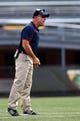 Oct 5, 2013; Birmingham, AL, USA;  Florida Atlantic Owls head coach Carl Pelini reacts to a call during the game against the UAB Blazers at Legion Field. Mandatory Credit: Marvin Gentry-USA TODAY Sports