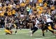 Oct 5, 2013; Hattiesburg, MS, USA; Southern Miss Golden Eagles kicker Corey Acosta (25) has his 44-yard field goal attempt blocked in the closing seconds of their game against the FIU Golden Panthers at M.M. Roberts Stadium. FIU won 42-23. Mandatory Credit: Chuck Cook-USA TODAY Sports
